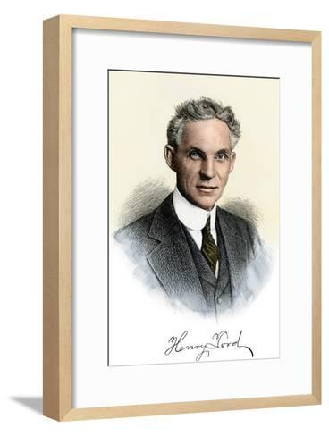 Henry Ford Portrait, with Autograph--Framed Art Print