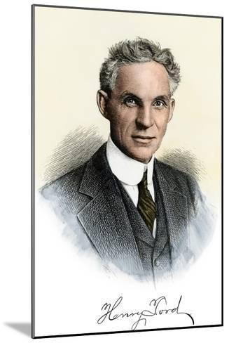Henry Ford Portrait, with Autograph--Mounted Photographic Print