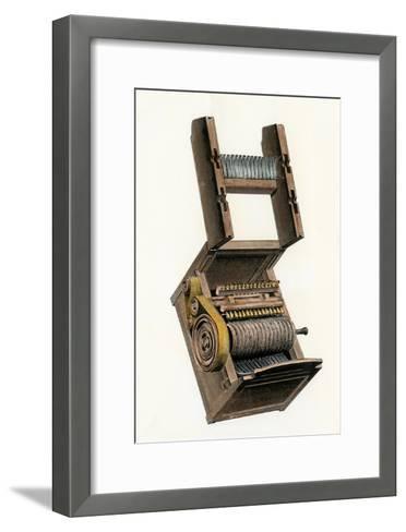 Model of Eli Whitney's Cotton-Gin--Framed Art Print