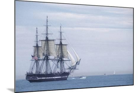 """USS Constitution """"Old Ironsides"""" Under Sail, Massachusetts Bay, Celebrating Its Bicentennial, 1997--Mounted Photographic Print"""