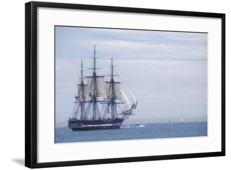 "USS Constitution ""Old Ironsides"" Under Sail, Massachusetts Bay, Celebrating Its Bicentennial, 1997--Framed Art Print"