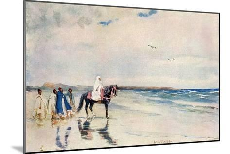 Sultan Mulai Abd-Ul-Aziz on the West Shore of Morocco, Circa 1900--Mounted Photographic Print