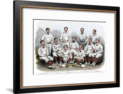 Boston Red Stocking Baseball Club of 1874--Framed Art Print