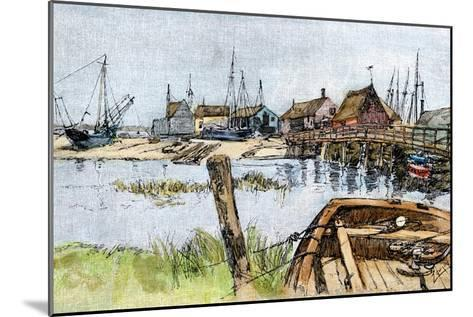 Old Wharves in Wellfleet, Cape Cod, 1880s--Mounted Photographic Print
