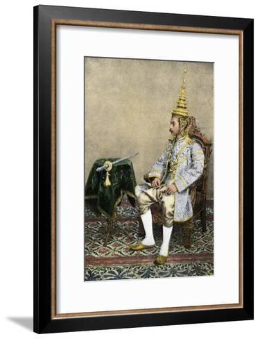 Rama V (Chulalongkorn), King of Siam, in His Royal Attire, Circa 1900--Framed Art Print