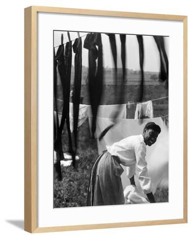 Woman Doing Laundry, C1902-Gertrude Kasebier-Framed Art Print