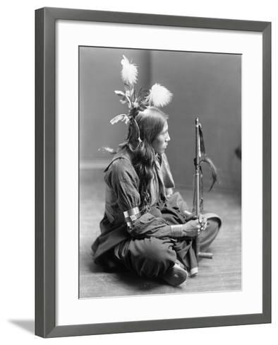 Sioux Native American, C1900-Gertrude Kasebier-Framed Art Print