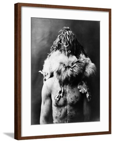 Navajo Mask, C1905-Edward S^ Curtis-Framed Art Print
