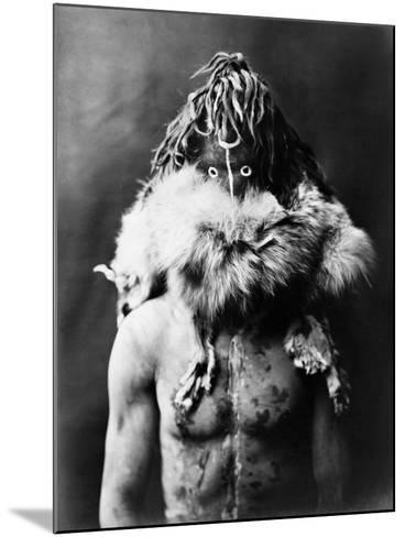 Navajo Mask, C1905-Edward S^ Curtis-Mounted Photographic Print