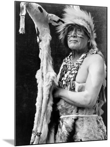 Hupa Dancer, C1923-Edward S^ Curtis-Mounted Photographic Print