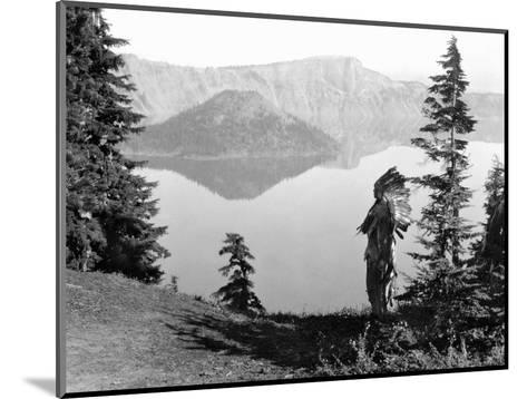Klamath Chief, C1923-Edward S^ Curtis-Mounted Photographic Print