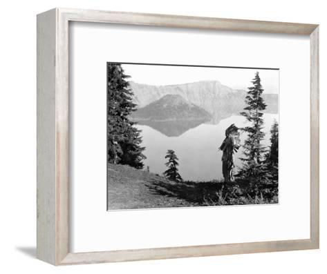 Klamath Chief, C1923-Edward S^ Curtis-Framed Art Print