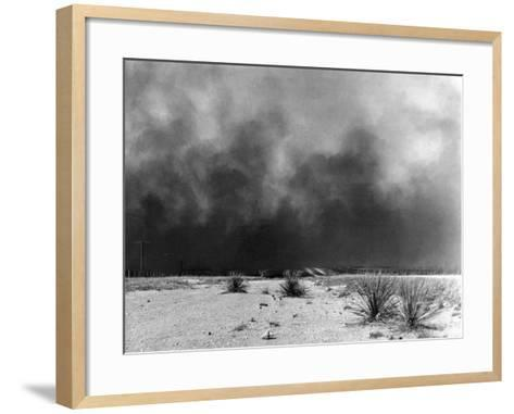 Drought: Dust Storm, 1936--Framed Art Print