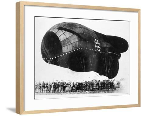 World War I: Airship--Framed Art Print
