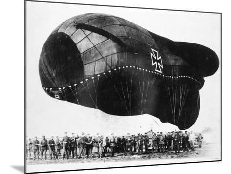 World War I: Airship--Mounted Photographic Print