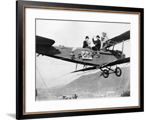 Silent Film Still: Stunts--Framed Art Print