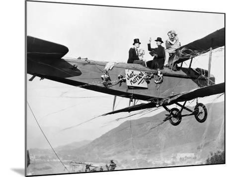 Silent Film Still: Stunts--Mounted Photographic Print