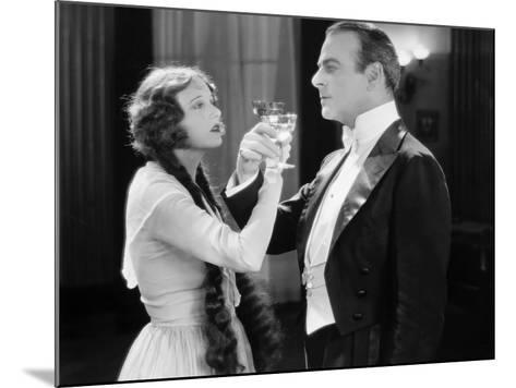 Silent Film Still: Drinking--Mounted Photographic Print