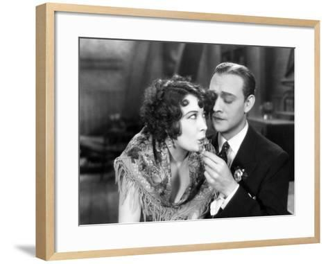 Silent Film Still: Drinking--Framed Art Print