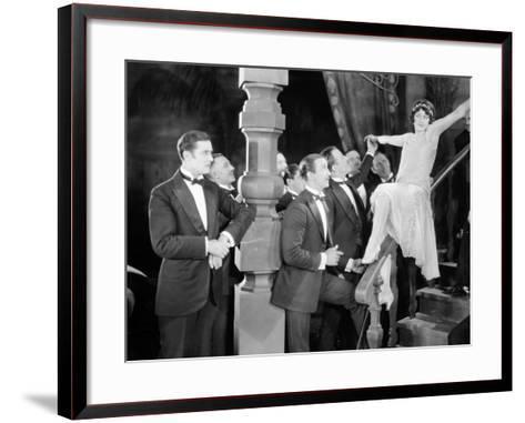 Silent Film Still: Parties--Framed Art Print