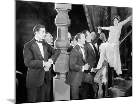 Silent Film Still: Parties--Mounted Photographic Print