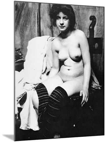 Seated Nude, C1910-Frank Eugene-Mounted Photographic Print