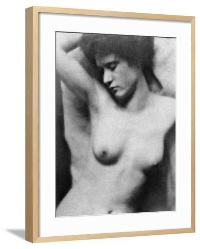 Reclining Nude, C1910-Clarence Henry White-Framed Art Print