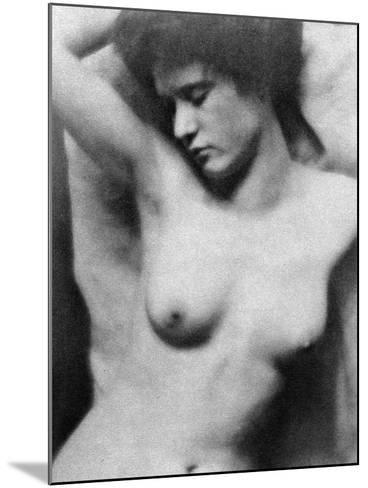 Reclining Nude, C1910-Clarence Henry White-Mounted Photographic Print