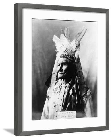 Geronimo (1829-1909)-Warren Mack Oliver-Framed Art Print