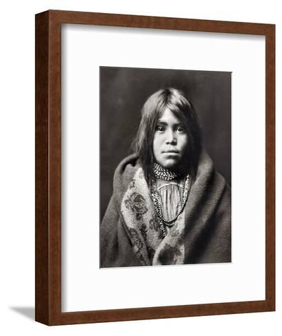 Apache Girl, C1903-Edward S^ Curtis-Framed Art Print
