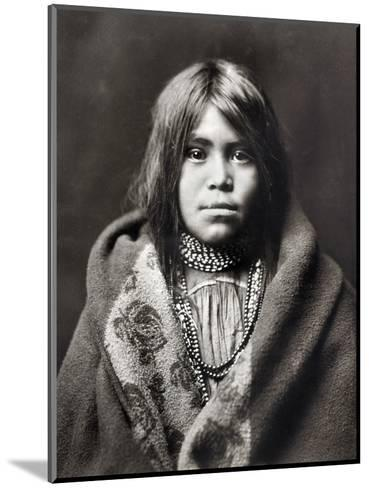 Apache Girl, C1903-Edward S^ Curtis-Mounted Photographic Print