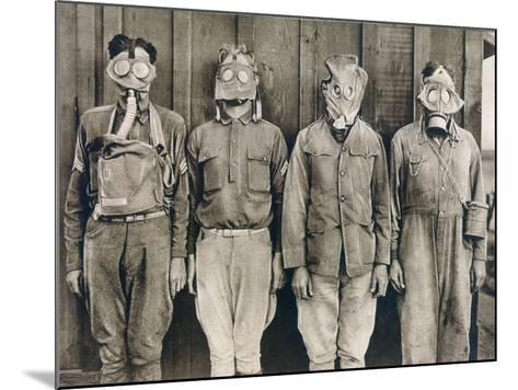 World War I: Gas Warfare--Mounted Photographic Print