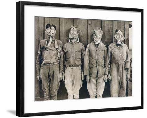World War I: Gas Warfare--Framed Art Print