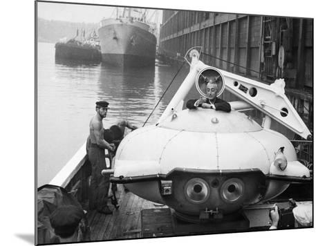 Jacques Cousteau (1910-1997)--Mounted Photographic Print