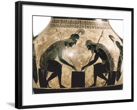 Achilles & Ajax, C540 B.C- Exekias-Framed Art Print