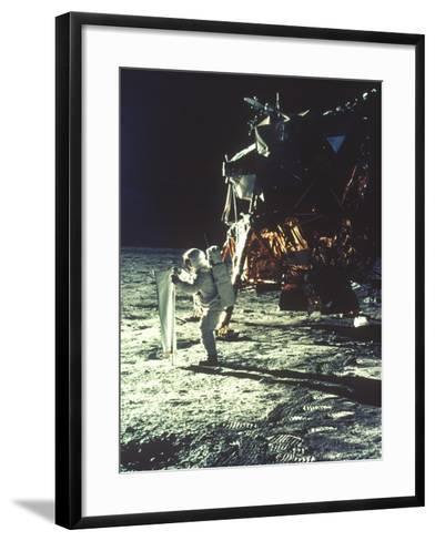 Apollo 11: Sun Sheet--Framed Art Print