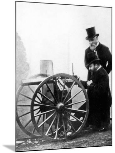 Sir Hiram Stevens Maxim--Mounted Photographic Print