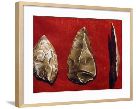 Paleolithic Tools--Framed Art Print