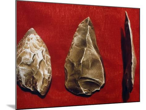 Paleolithic Tools--Mounted Photographic Print
