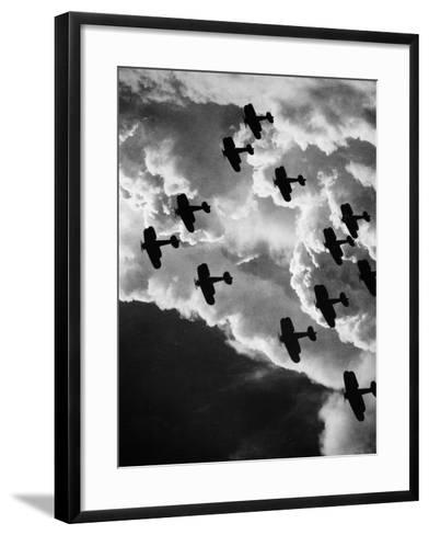 Biplanes, C1917--Framed Art Print