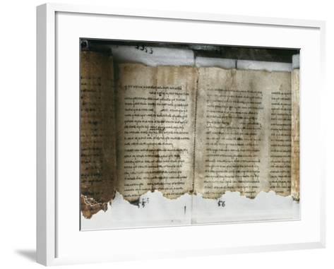 Dead Sea Scroll--Framed Art Print
