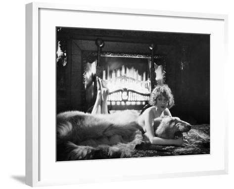 Silent Film Still: Woman--Framed Art Print