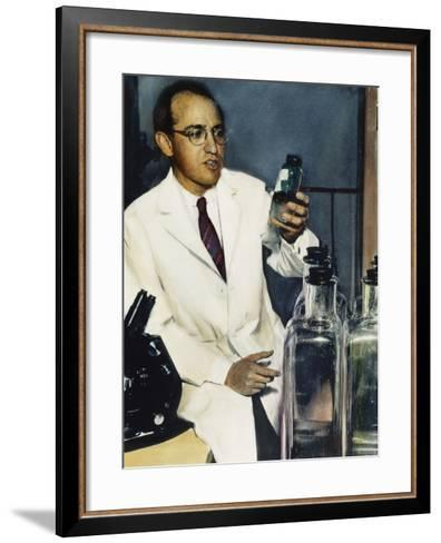 Jonas Salk (1914-1995)--Framed Art Print