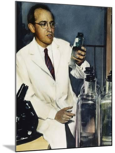 Jonas Salk (1914-1995)--Mounted Photographic Print