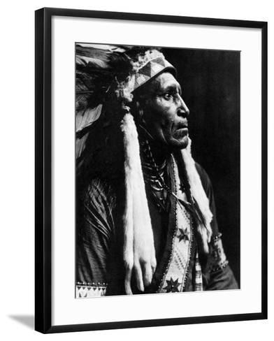 Curtis: Raven Blanket, 1910-Edward S^ Curtis-Framed Art Print