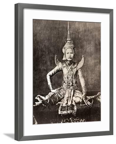 Siam: Dancer, C1870--Framed Art Print