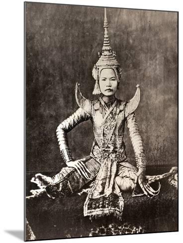 Siam: Dancer, C1870--Mounted Photographic Print