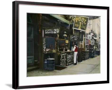 New York City Restaurant--Framed Art Print