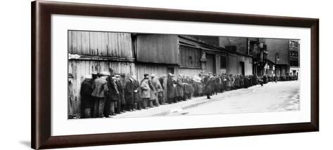 New York City: Bread Line--Framed Art Print