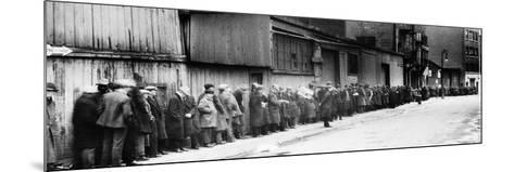 New York City: Bread Line--Mounted Photographic Print